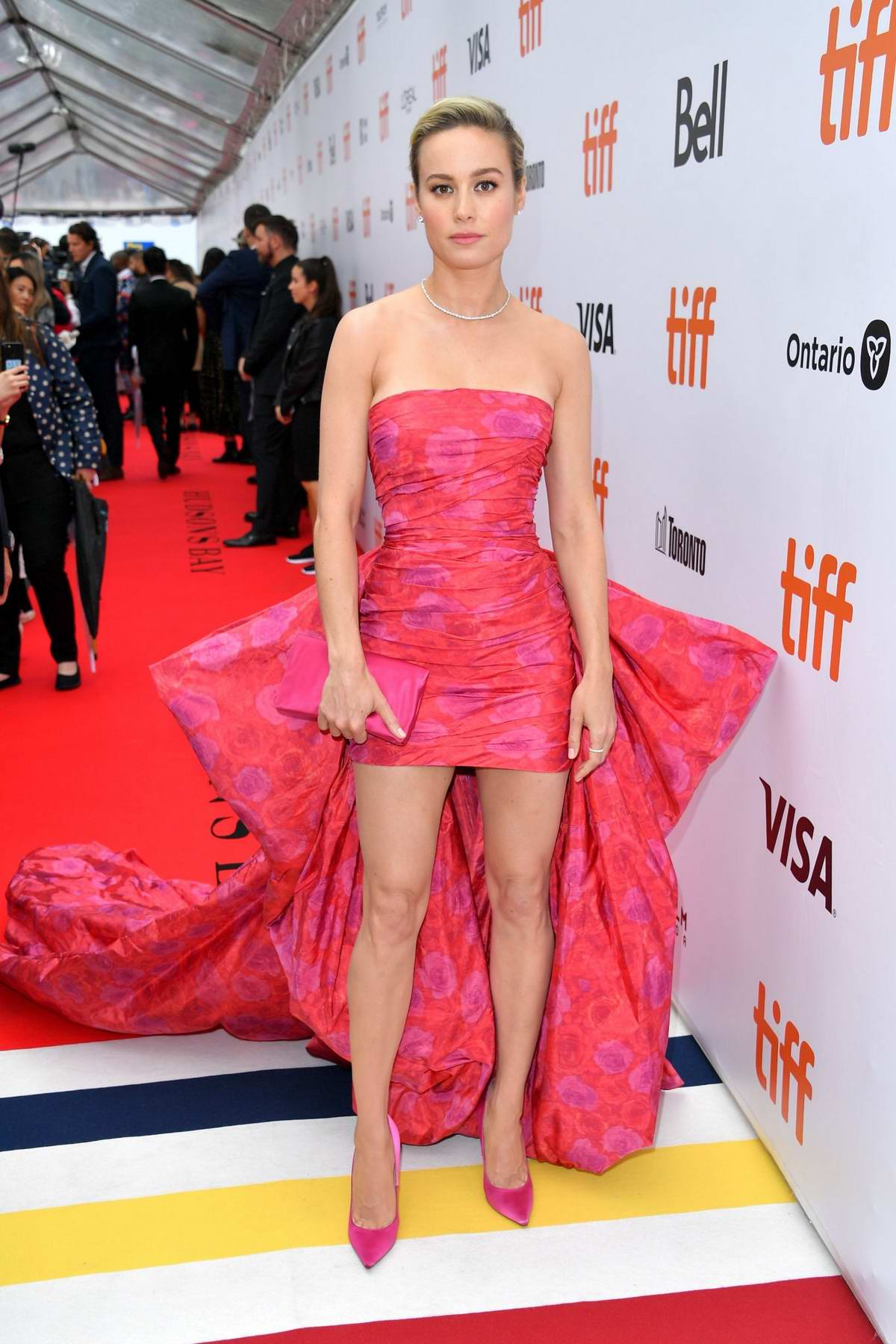 Brie Larson attends the premiere of 'Just Mercy' during the 2019 Toronto International Film Festival in Toronto, Canada