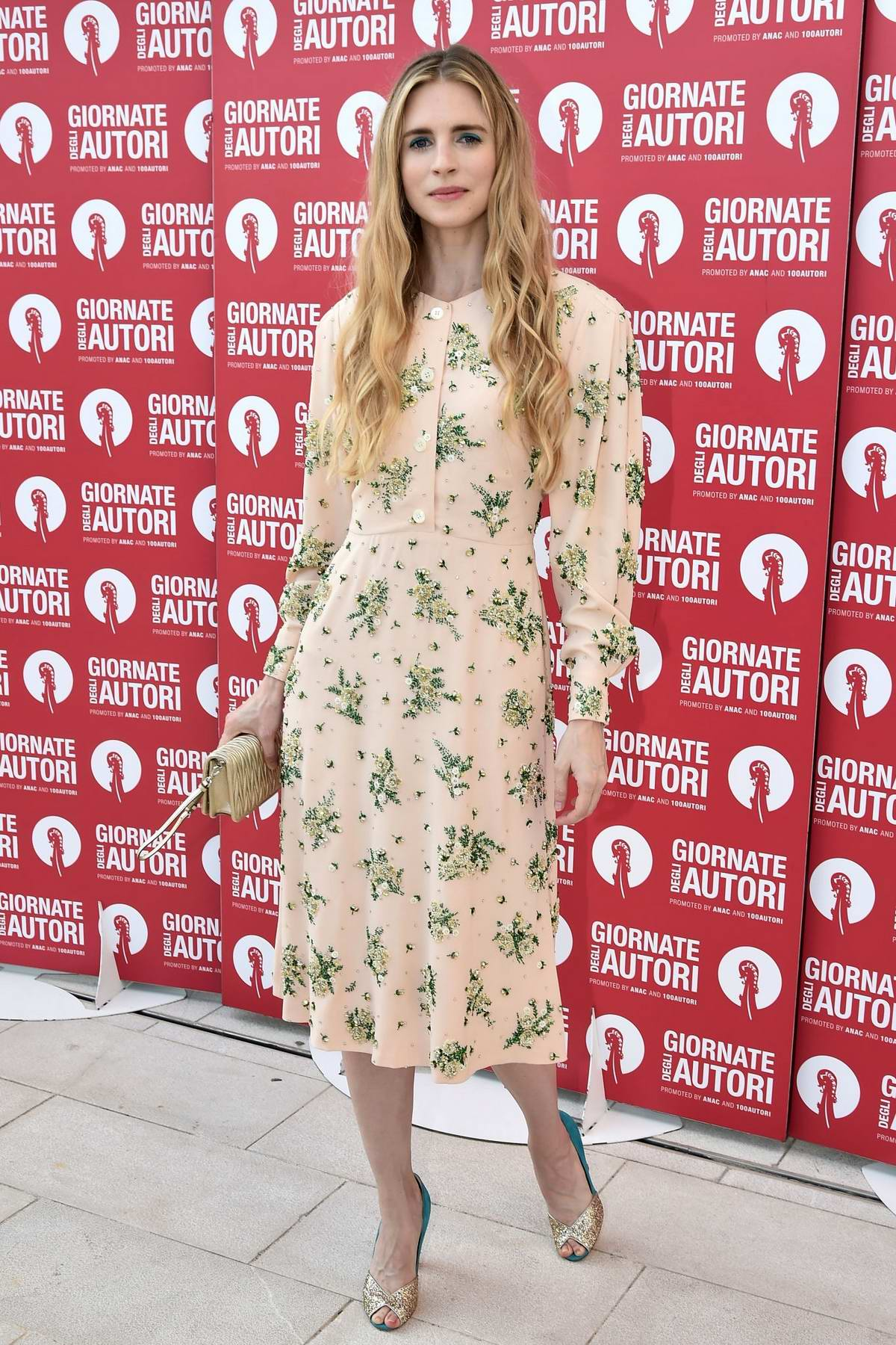 Brit Marling attends the Miu Miu Photocall during the 76th Venice Film Festival at Sala Volpi in Venice, Italy