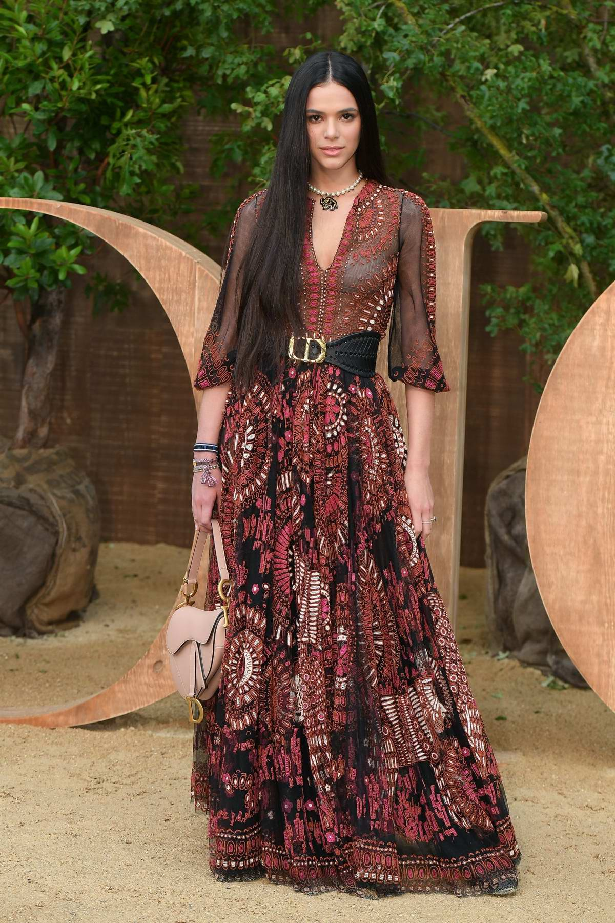 Bruna Marquezine attends Christian Dior show, Womenswear SS 2020 during Paris Fashion Week in Paris, France