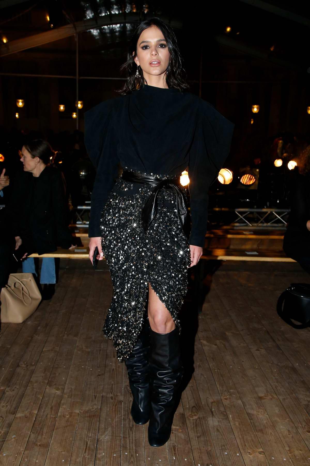 Bruna Marquezine attends the Isabel Marant Spring/Summer 2020 show during Paris Fashion Week in Paris, France