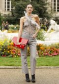 Bruna Marquezine attends the Maison Margiela Spring/Summer 2020 show during Paris Fashion Week in Paris, France
