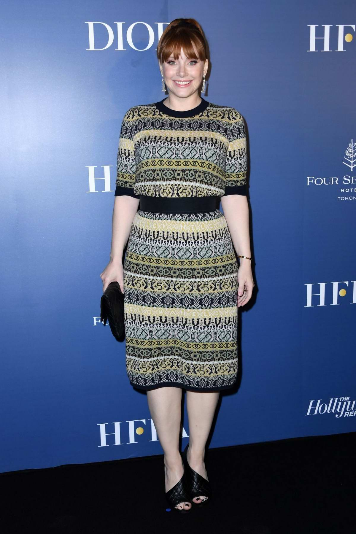 Bryce Dallas Howard attends the Hollywood Reporter party during the 2019 Toronto International Film Festival at the Four Seasons Hotel in Toronto, Canada