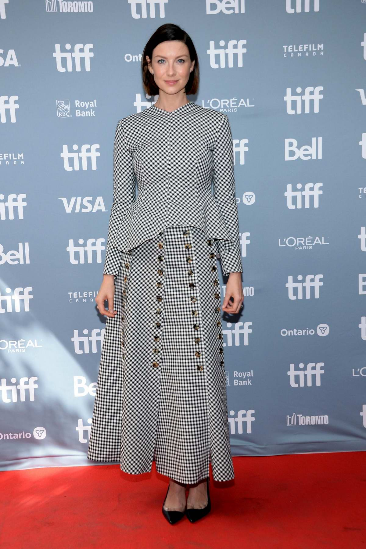 Caitriona Balfe attends the 'Ford v Ferrari' press conference during the 2019 Toronto International Film Festival in Toronto, Canada