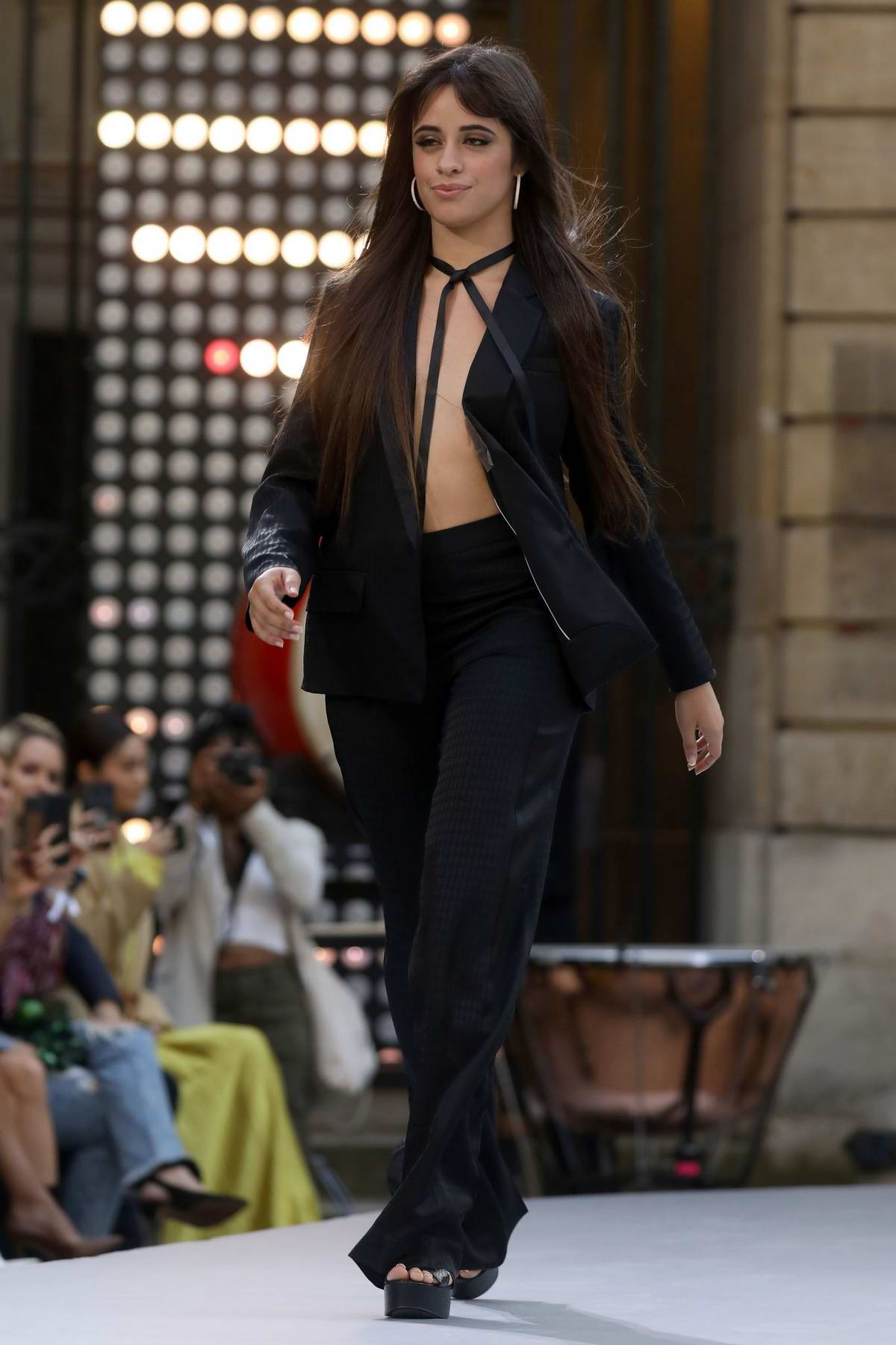 Camila Cabello walks the runway at the Le Defile L'Oreal Paris show during Paris Fashion Week in Paris, France