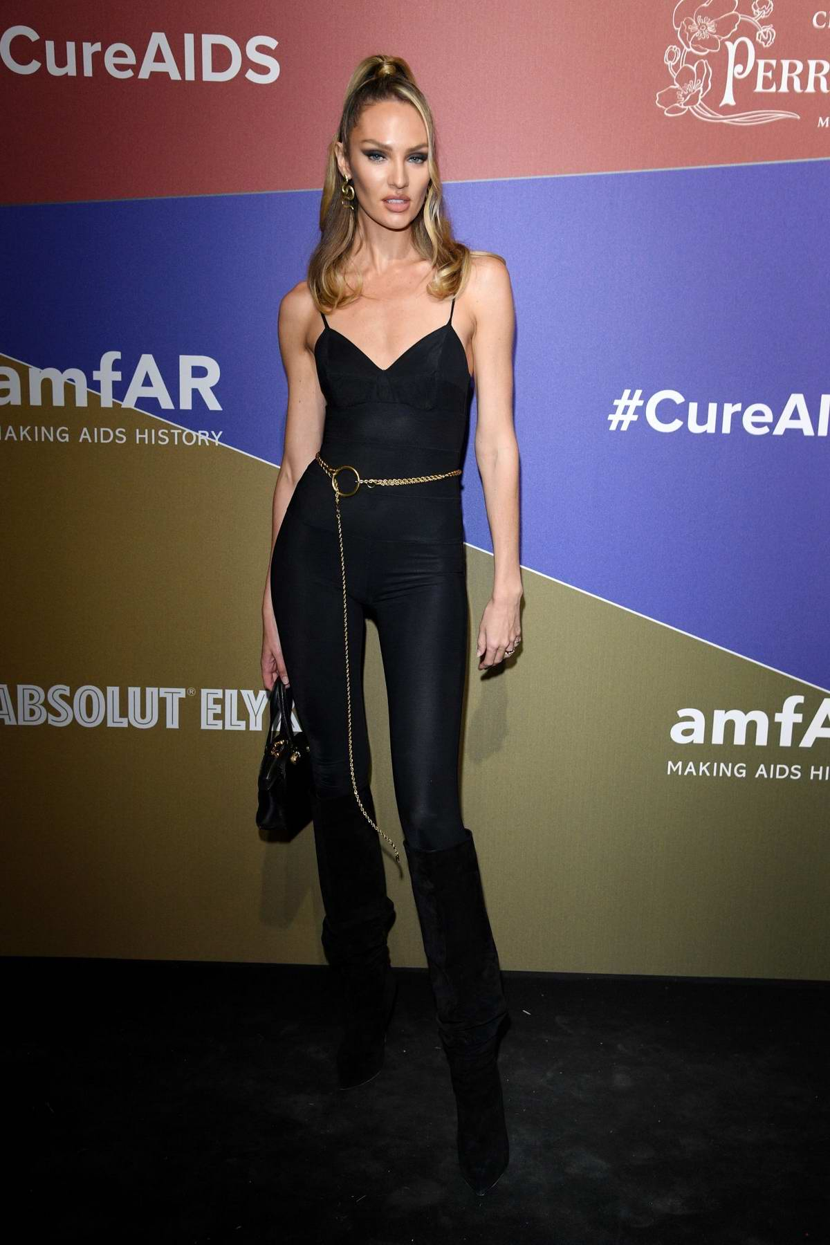 Candice Swanepoel attends the amfAR Gala Milano 2019 at Palazzo Mezzanotte in Milan, Italy