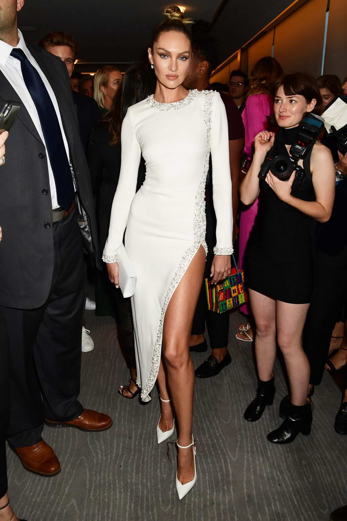 Candice Swanepoel attends The Daily Front Row Fashion Media Awards Spring/Summer 2020 in New York City