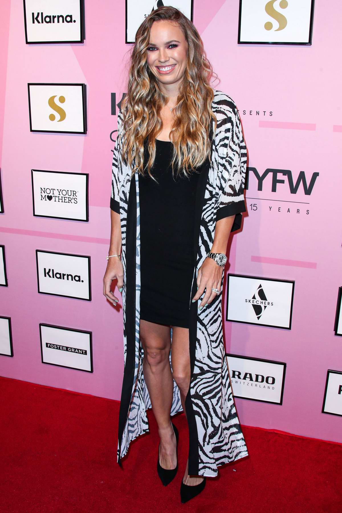 Caroline Wozniacki attends S by Serena Williams show during New York Fashion Week in New York City