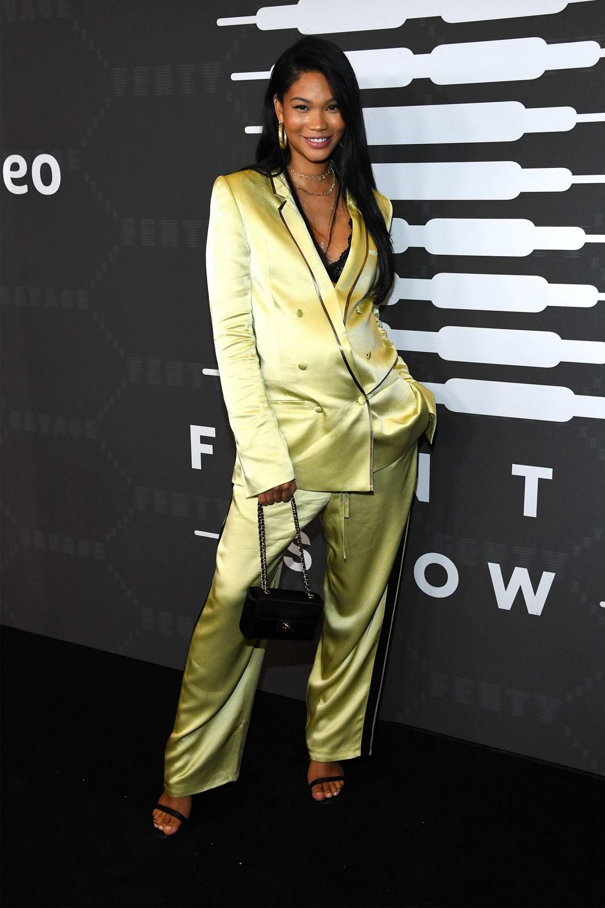 Chanel Iman attends Savage X Fenty Show during New York Fashion Week at Barclays Center in Brooklyn, New York City