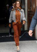 Cheryl Tweedy looks stylish as she leaves her hotel in Paris, France