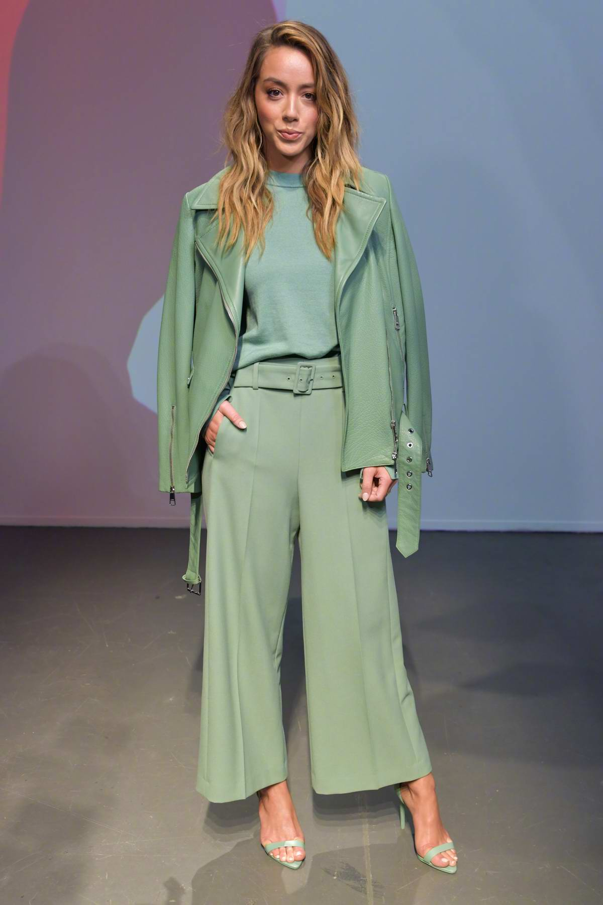 Chloe Bennet attends Boss Fashion show during Milan Fashion Week, Spring/Summer 2020 in Milan, Italy