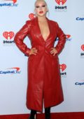 Christina Aguilera attends the 2019 iHeartradio Music Festival at T-Mobile Arena in Las Vegas, Nevada