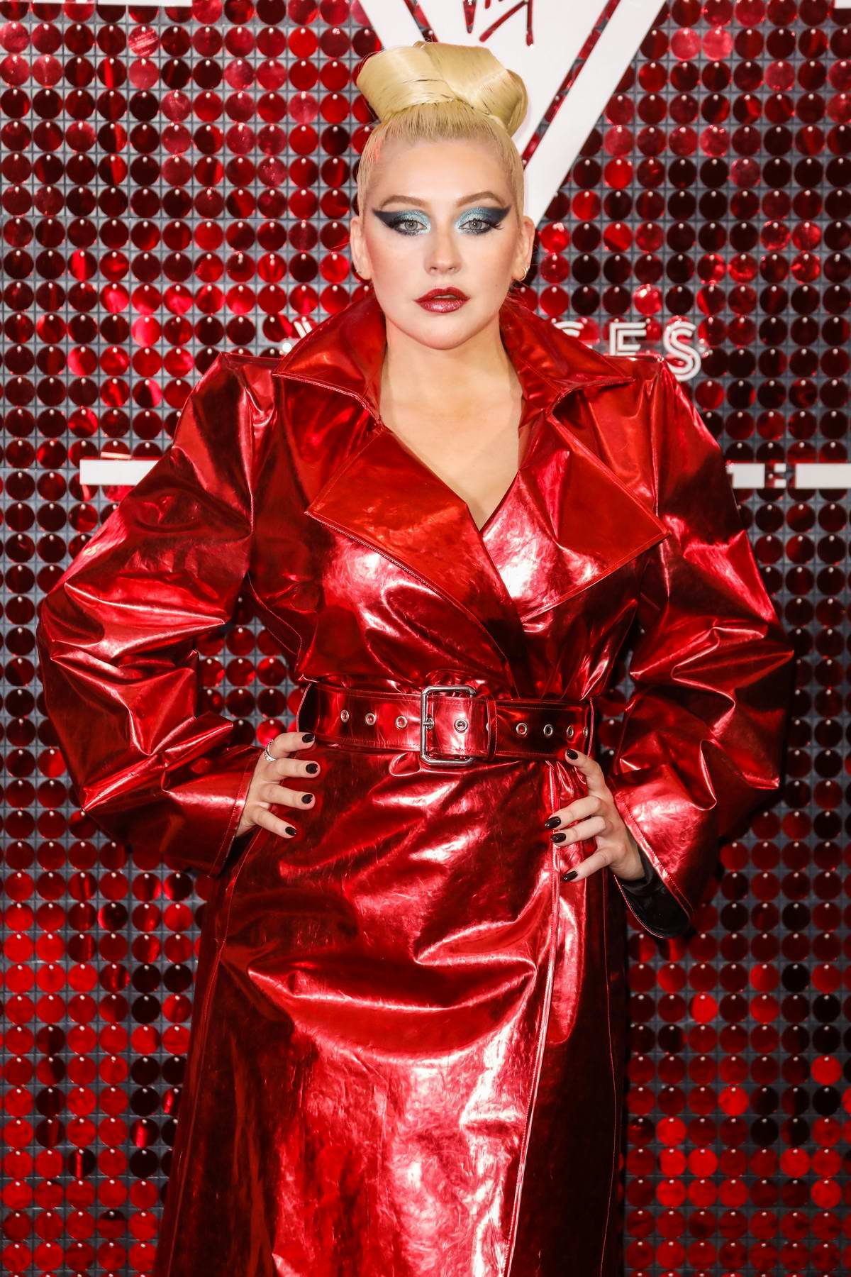 Christina Aguilera attends the Virgin Voyages x Gareth Pugh Event at the Royal Opera House in London, UK