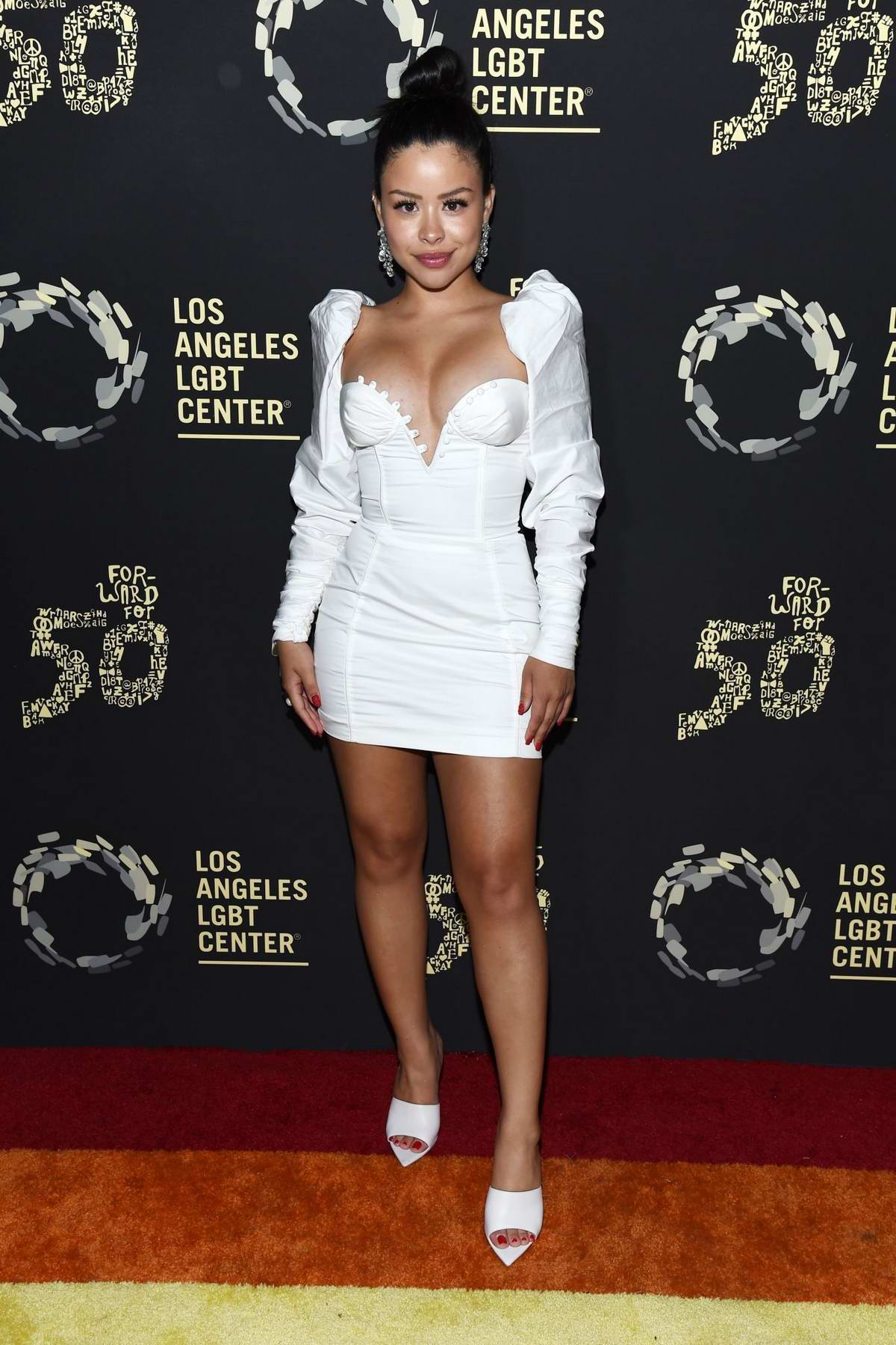 Cierra Ramirez attends the Los Angeles LGBT Center 50th Anniversary event at The Greek Theatre in Los Angeles