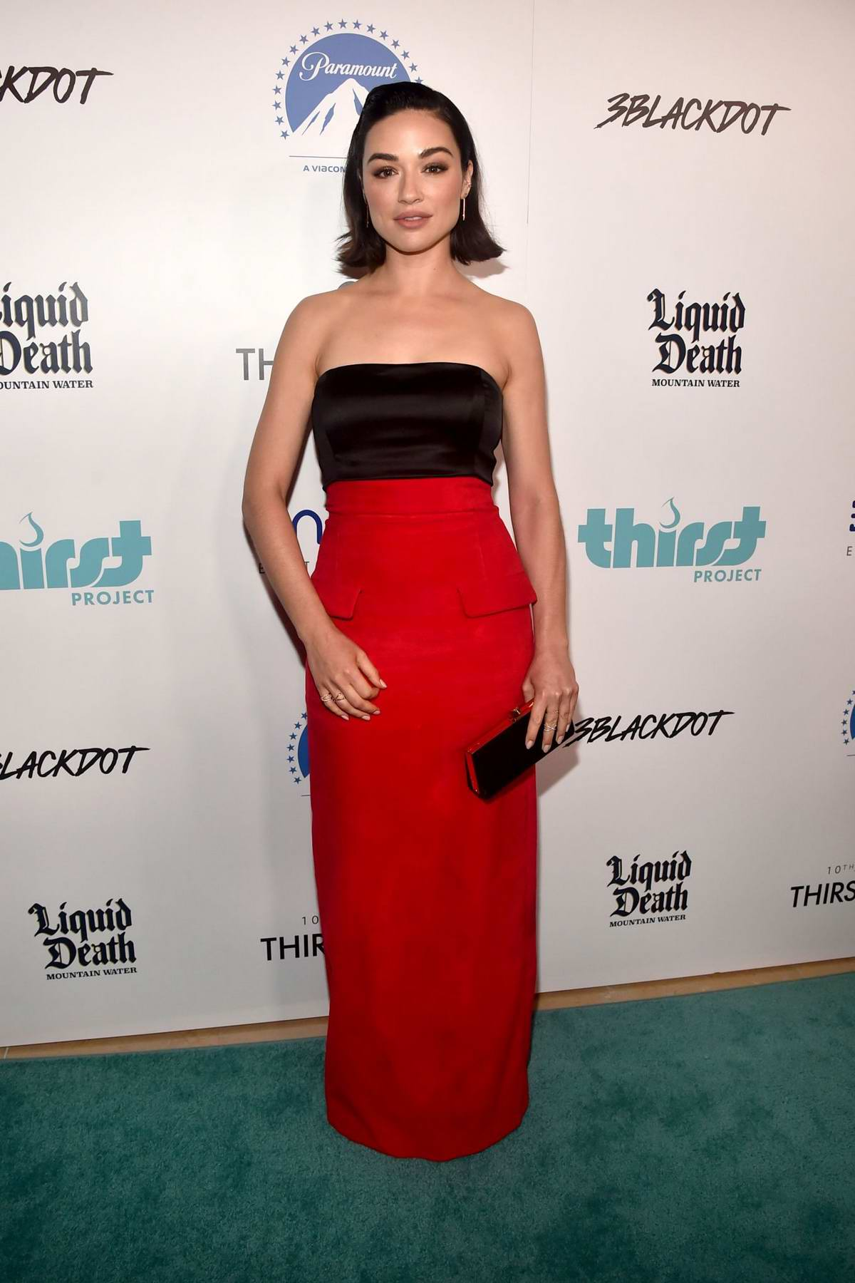 Crystal Reed attends the Thirst Project 10th Annual Thirst Gala at The Beverly Hilton Hotel in Beverly Hills, Los Angeles