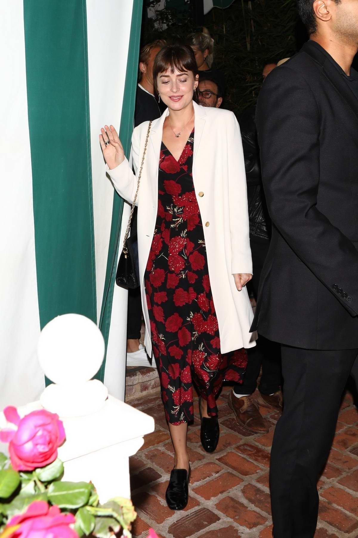Dakota Johnson attends her sister Stella Banderas's birthday dinner in Los Angeles