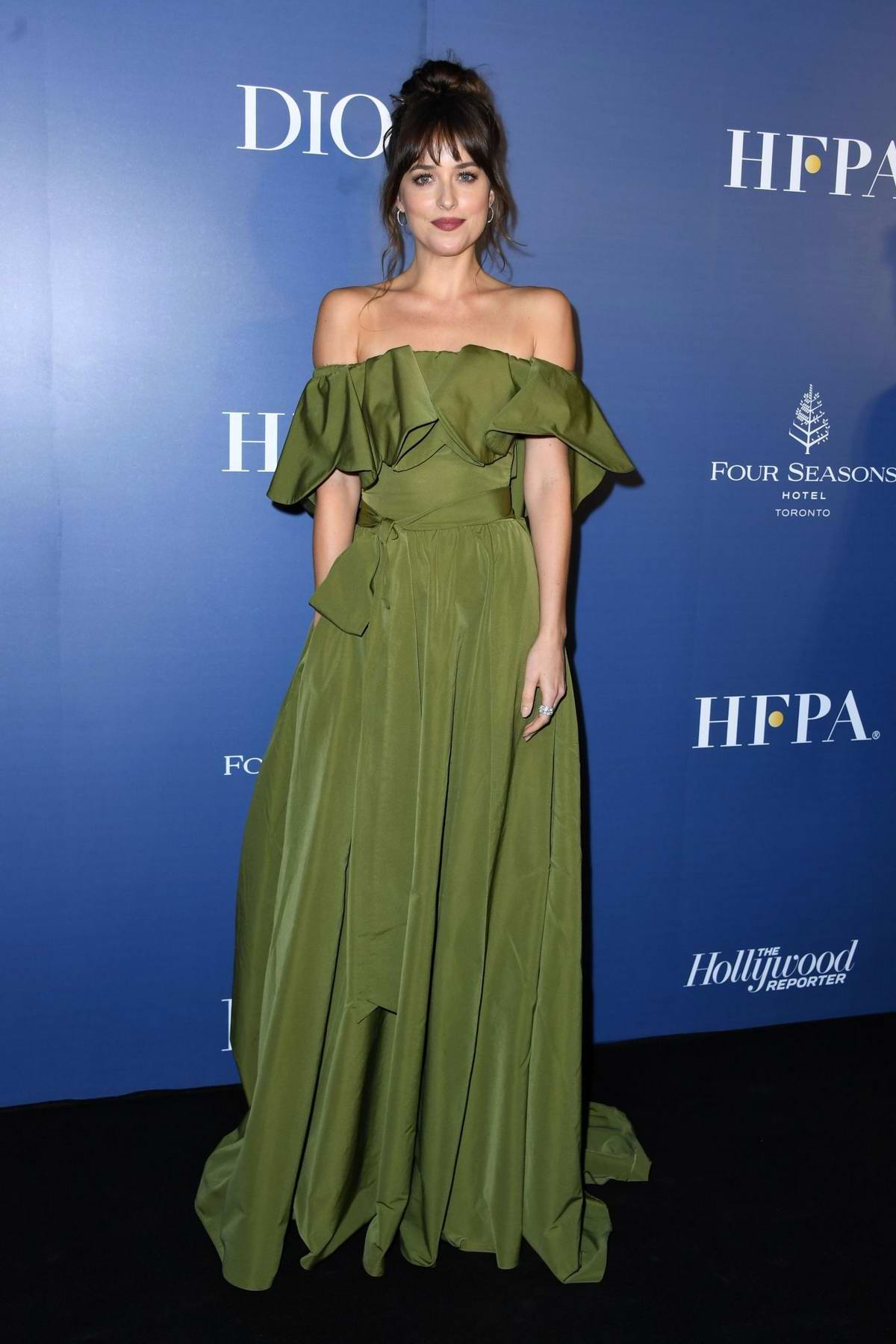 Dakota Johnson attends the Hollywood Reporter party during the 2019 Toronto International Film Festival in Toronto, Canada