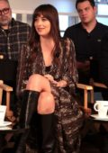 Dakota Johnson attends the RBC and Nespresso host Coffee with Creators for the film 'The Friend' during 2019 TIFF in Toronto, Canada