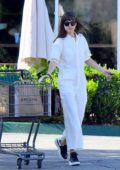 Dakota Johnson dons a white jumpsuit as she picks up some groceries at Erewhon in Los Angeles