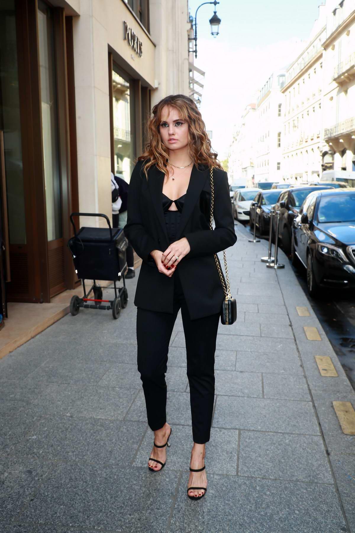 Debby Ryan attends the Balmain Womenswear Spring/Summer 2020 during Paris Fashion Week in Paris, France