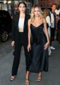 Delilah Hamlin and Amelia Hamlin attends the ELLE and IMG NYFW Kick-Off Party 2019 in New York City