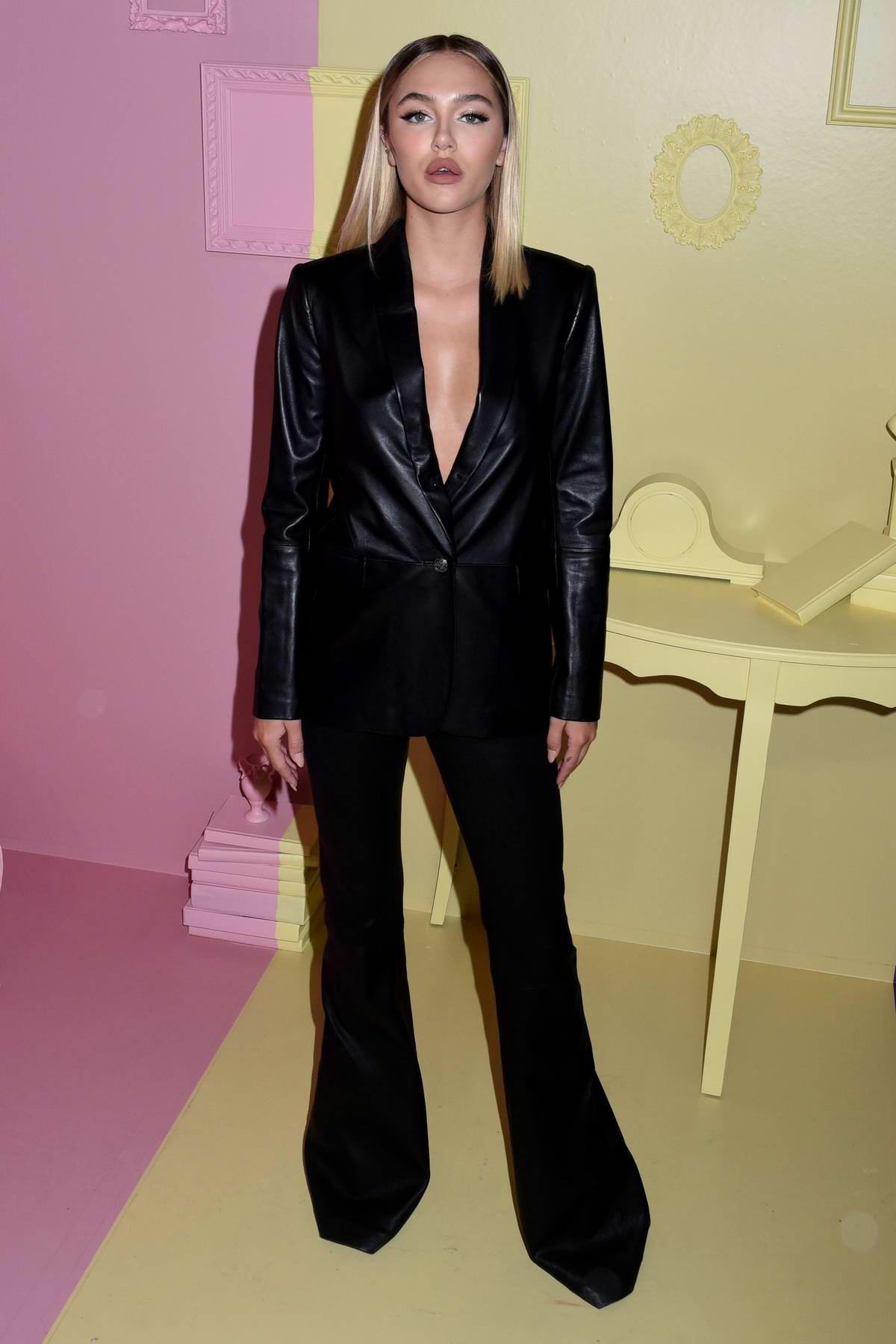 Delilah Hamlin attends the Alice + Olivia by Stacey Bendet arrivals during NYFW in New York City