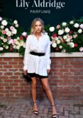 Delilah Hamlin attends the 'Lily Aldridge parfums' launch event at The Bowery Terrace in New York City