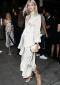 Devon Windsor attends the ELLE and IMG NYFW Kick-Off Party 2019 in New York City