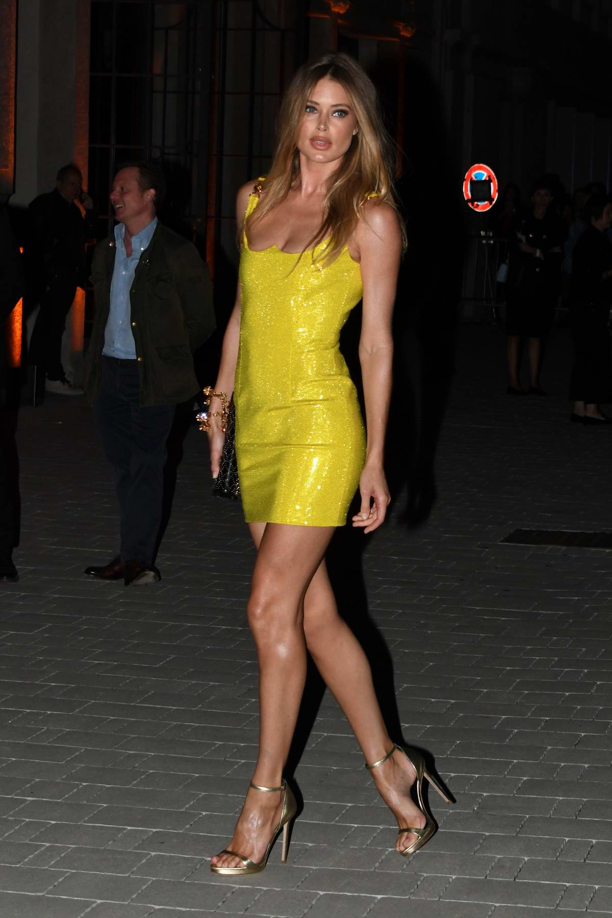 Doutzen Kroes attends the Varsace show SS 2020 and after-party during Milan Fashion Week in Milan, Italy