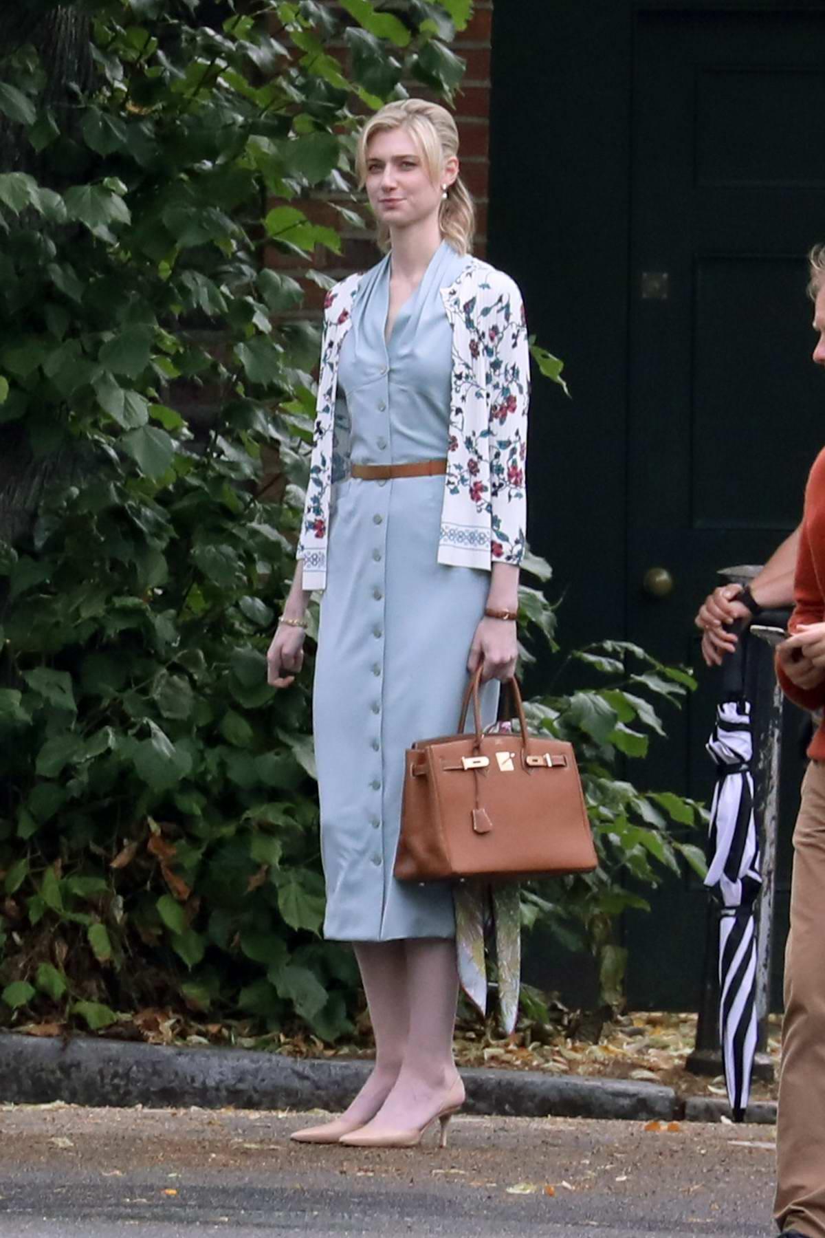 Elizabeth Debicki spotted on the set of 'Tenet' in North London, UK