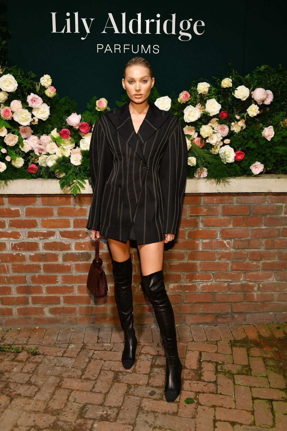 Elsa Hosk attends the 'Lily Aldridge parfums' launch event at The Bowery Terrace in New York City