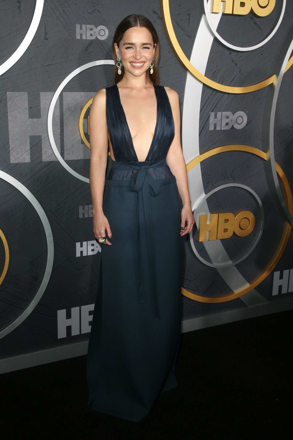Emilia Clarke attends the 2019 HBO Emmy Awards After-Party at The Pacific Design Center in Los Angeles
