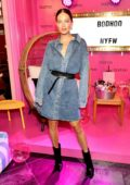 Emily DiDonato attends the Boohoo Mansion NYFW Party in New York City