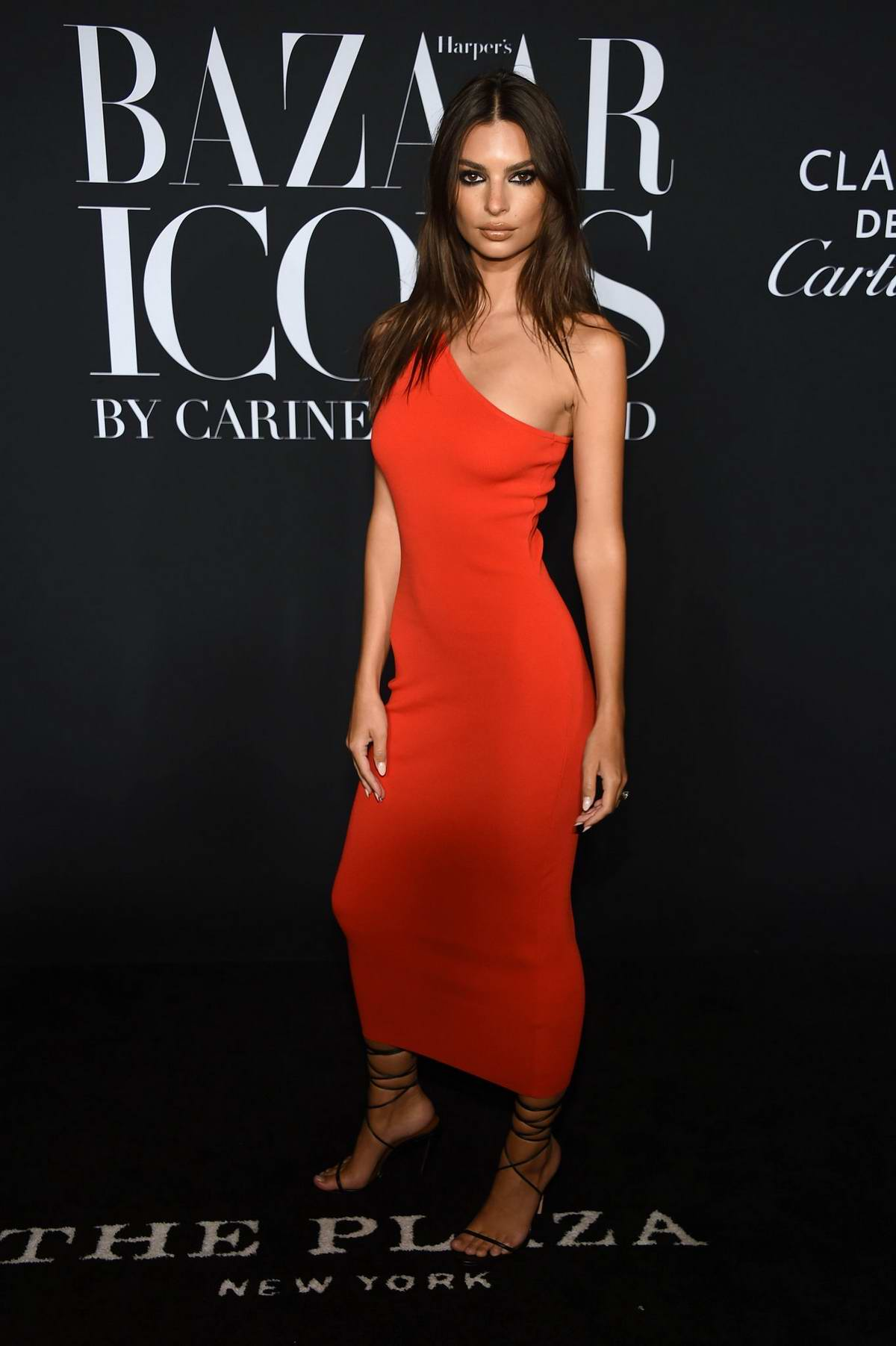Emily Ratajkowski attends the 2019 Harper's Bazaar ICONS Party at The Plaza Hotel in New York City