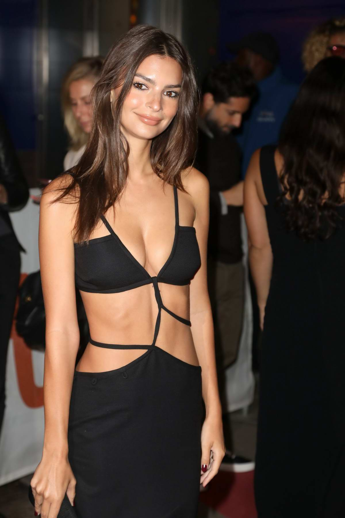 Emily Ratajkowski attends the 'Uncut Gems' Premiere during the 2019 Toronto International Film Festival in Toronto, Canada