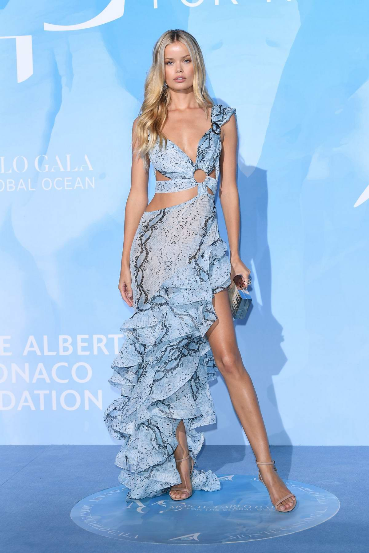 Frida Aasen attends the Gala for the Global Ocean in Monte Carlo, Monaco