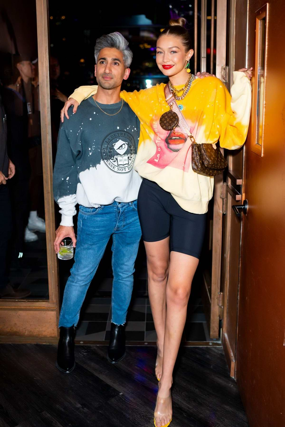 Gigi Hadid attends La Detresse SS20 'Acid Drop' by Alana Hadid and Emily Perlstein at The Fleur Room in New York City