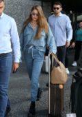 Gigi Hadid seen arriving for Milan Fashion Week S/S 2020 in Milan, Italy