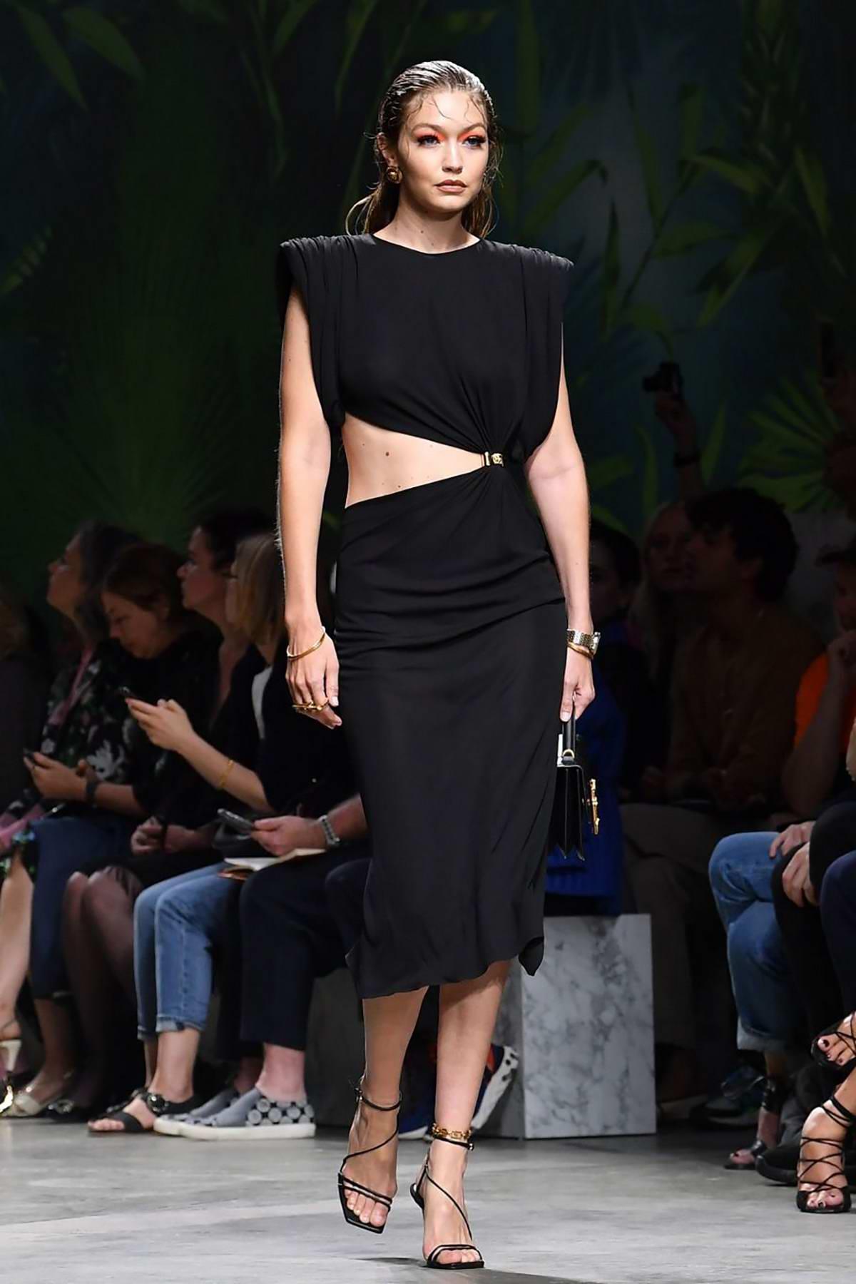 Gigi Hadid Walks The Runway At The Versace Show During Milan Fashion Week Spring Summer 2020