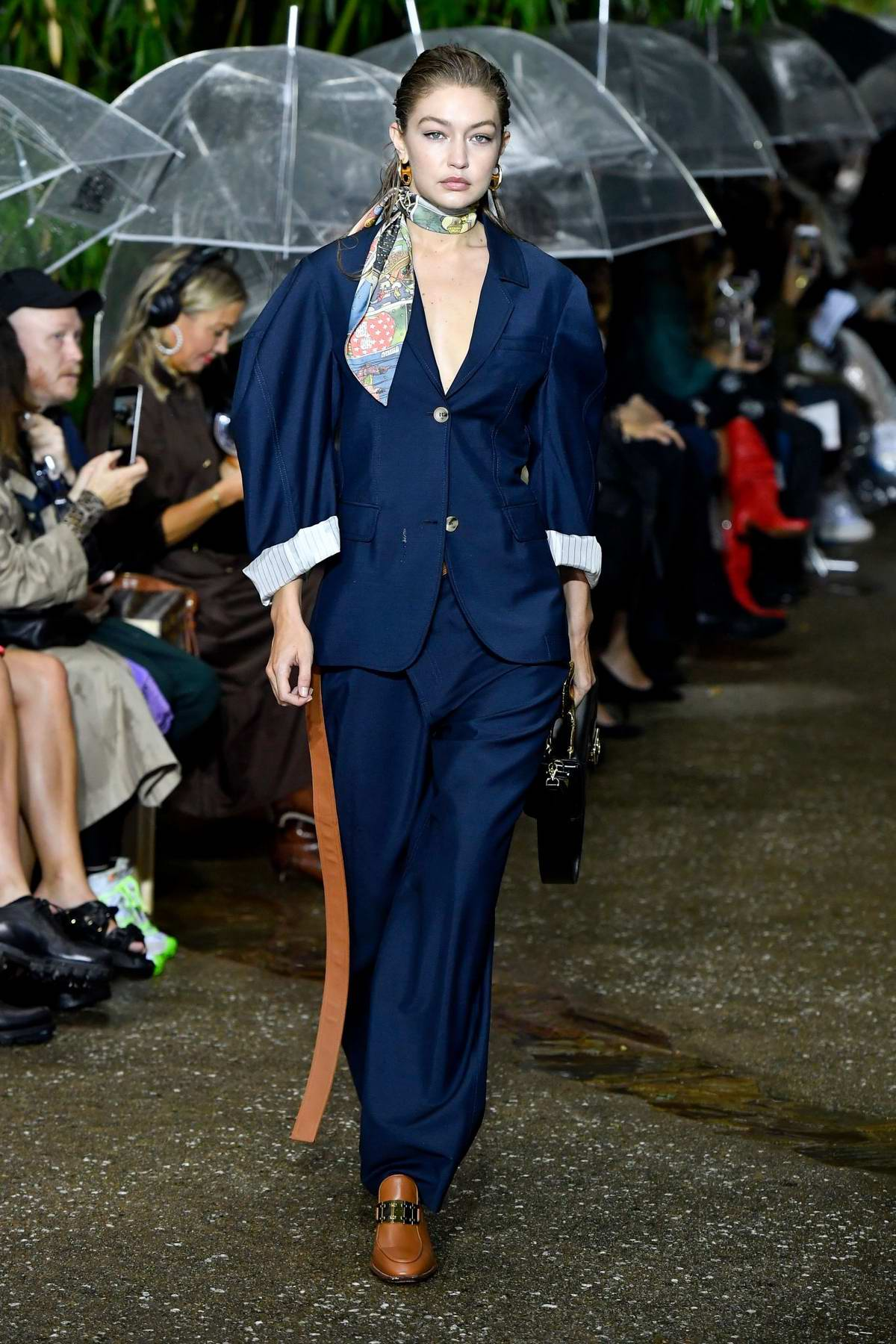 Gigi Hadid walks the runway for the Lanvin Ready to Wear, SS 2020 Show during Paris Fashion Week in Paris, France