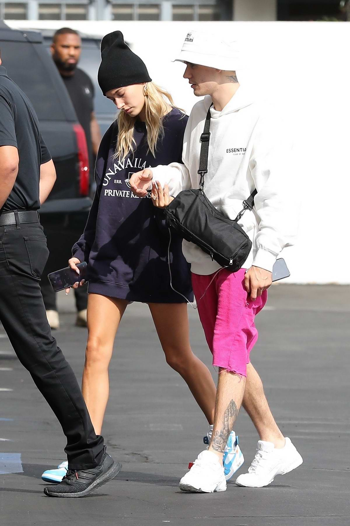 Hailey Baldwin And Justin Bieber Arrive To The Movies At Ipic Movie Theater In Westwood California