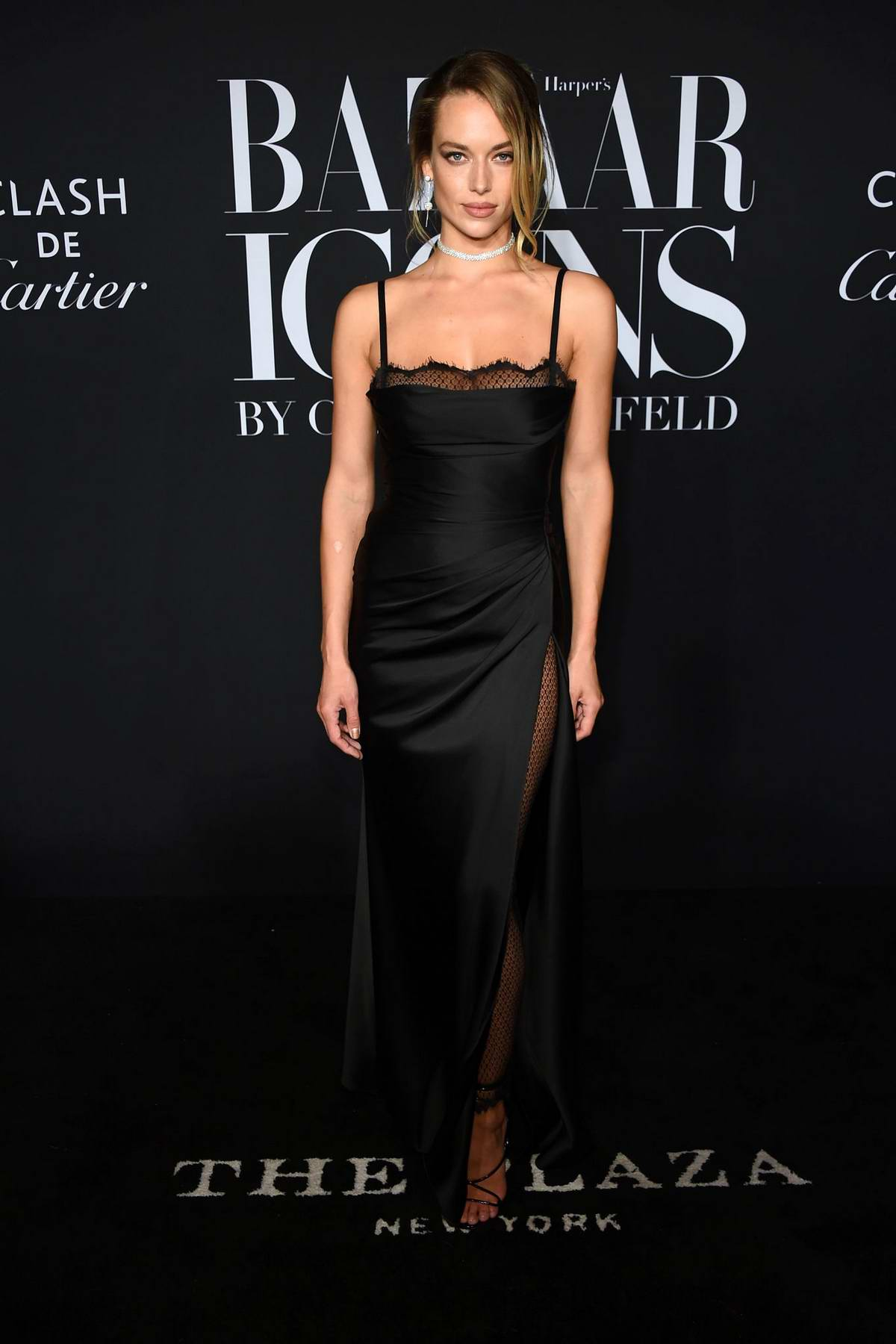 Hannah Ferguson attends the 2019 Harper's Bazaar ICONS Party at The Plaza Hotel in New York City