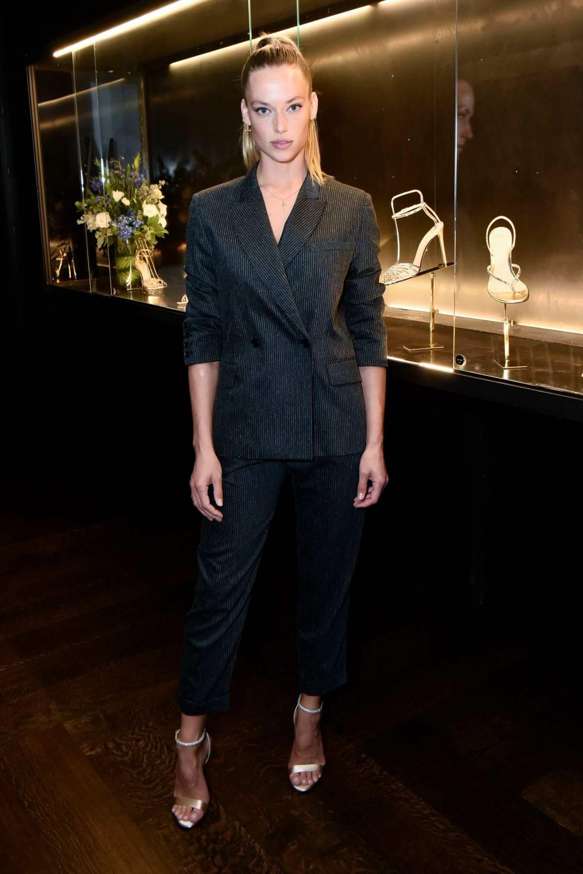 Hannah Ferguson attends the Alevi Milano NYFW Dinner in New York City