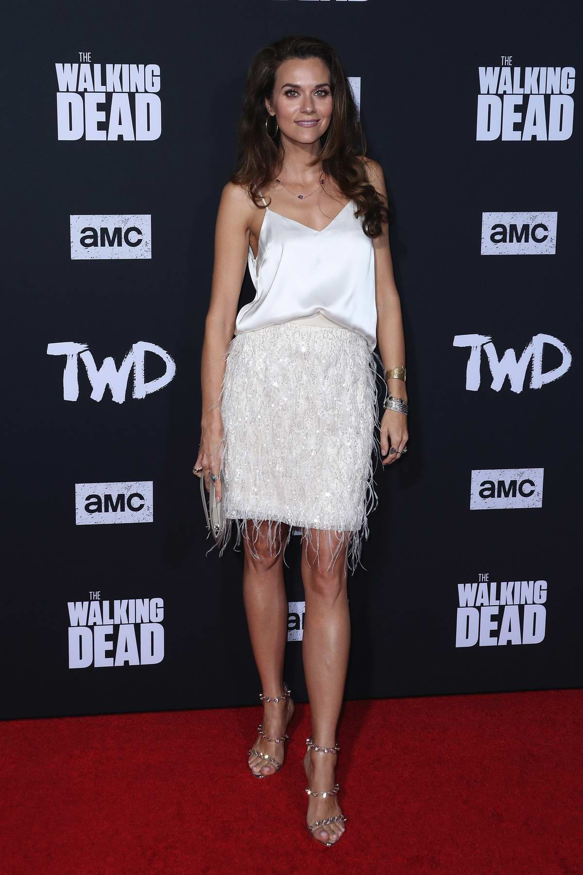 Hilarie Burton attends 'The Walking Dead' Season 10 Premiere and Party at Chinese 6 Theater in Hollywood, California