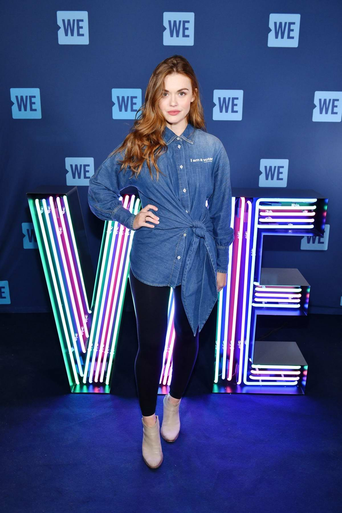 Holland Roden attends the WE Day UN 2019 at Barclays Center in Brooklyn, New York City