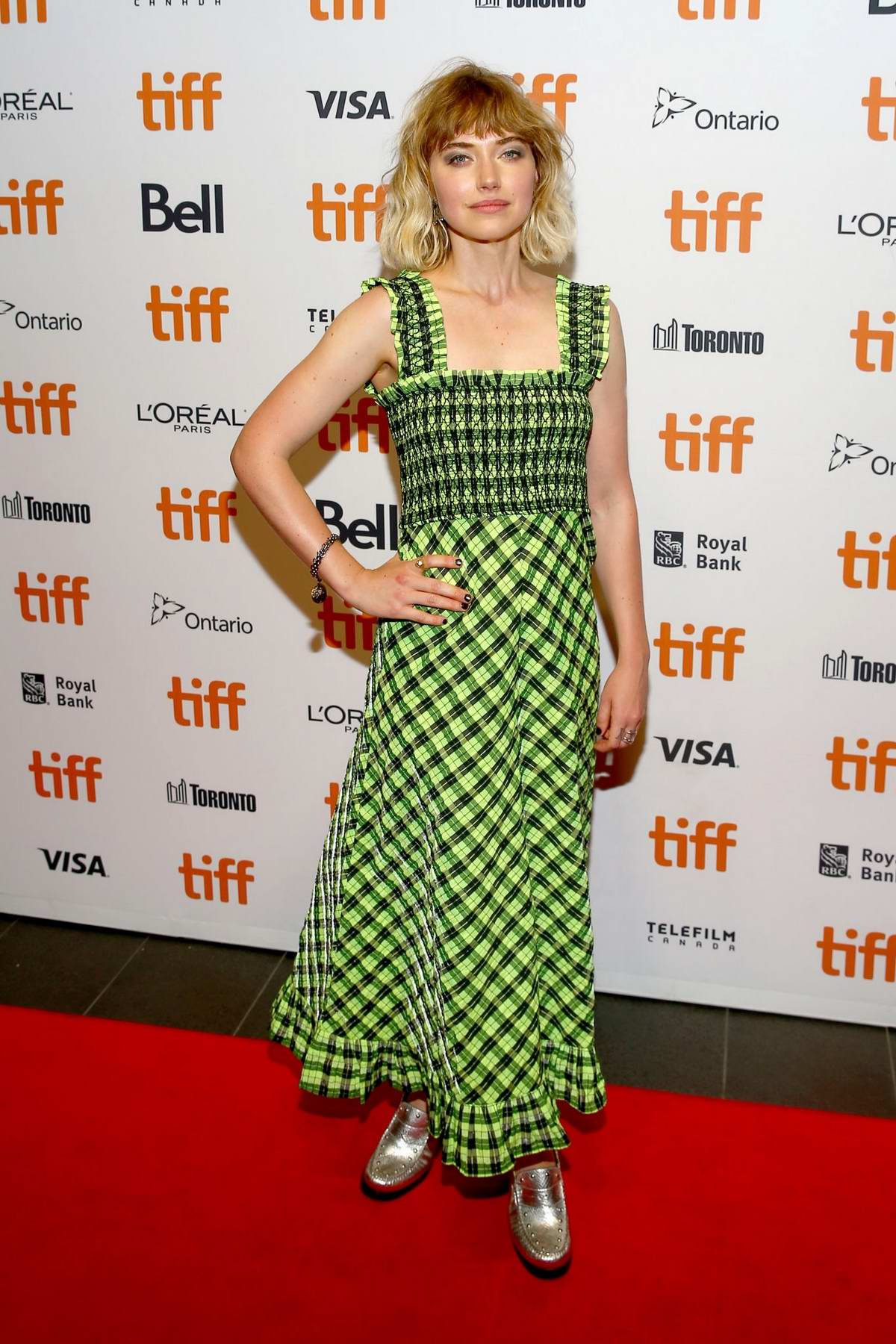 Imogen Poots attends the 'Castle In The Ground' premiere during the 2019 Toronto International Film Festival in Toronto, Canada
