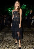 Isabeli Fontana attends Dolce & Gabbana show during Milan Fashion Week, Spring/Summer 2020 in Milan, Italy
