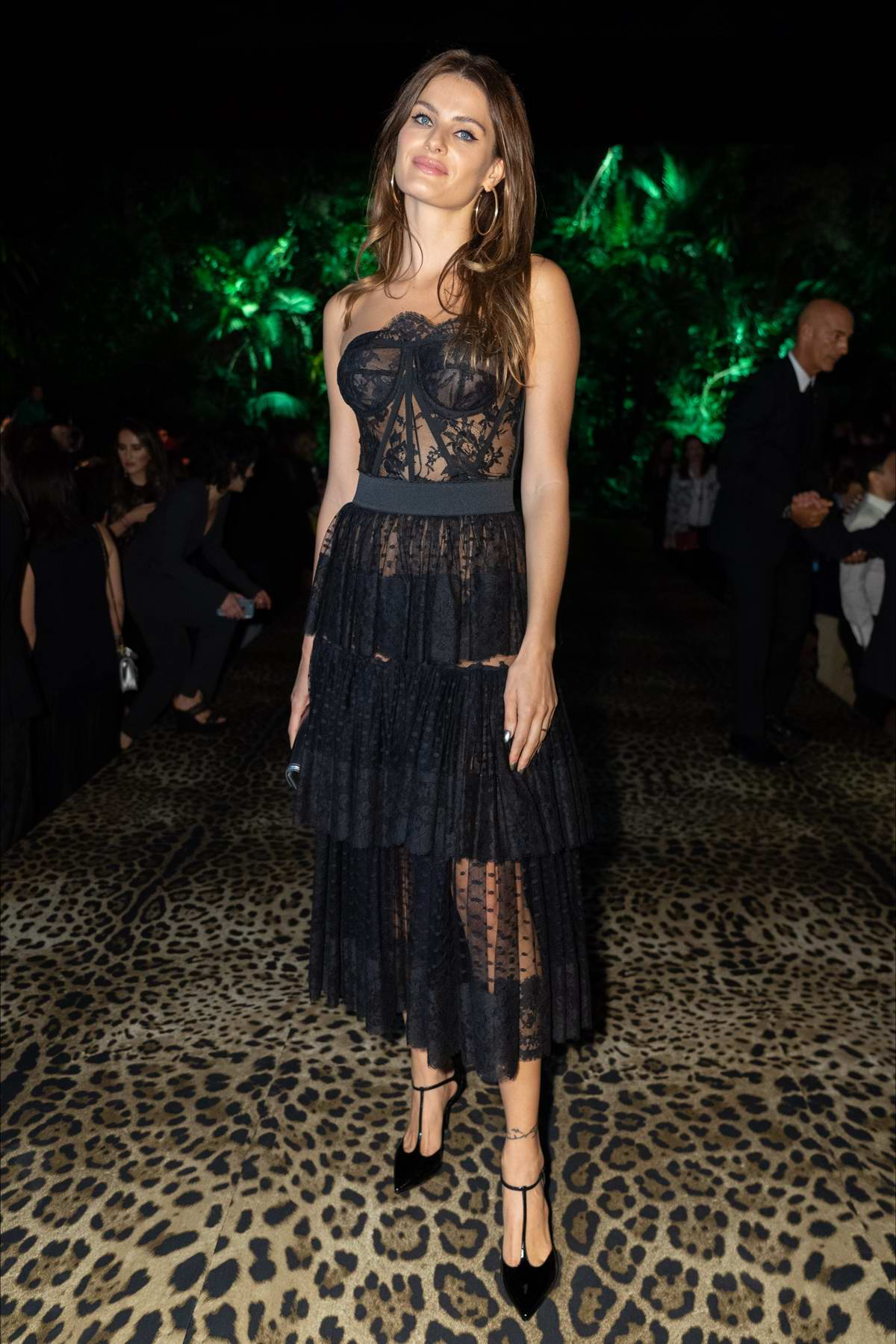 Isabeli Fontana attends Dolce & Gabbana show during Milan Fashion Week, Spring/Summer 2020 in Milan, Italy