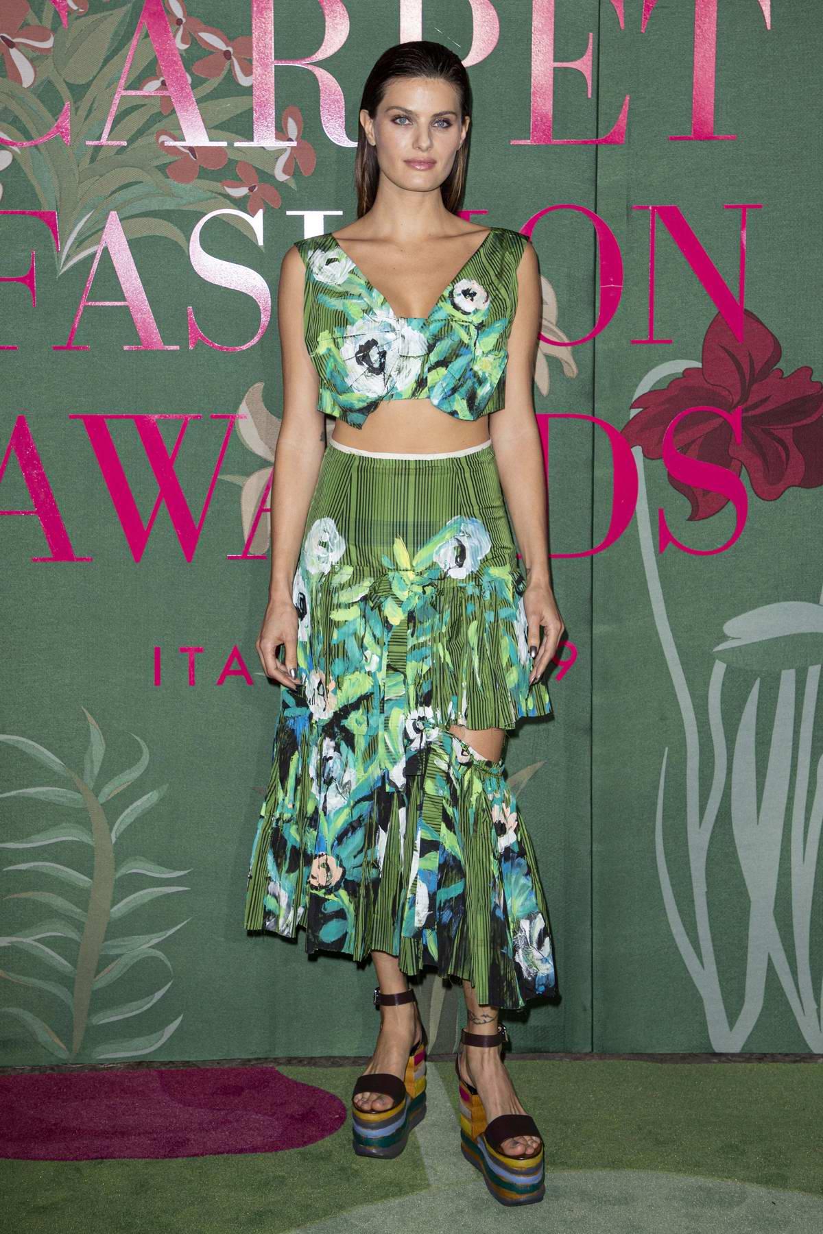Isabeli Fontana attends The Green Carpet Fashion Awards 2019 in Milan, Italy