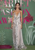 Izabel Goulart attends The Green Carpet Fashion Awards 2019 in Milan, Italy