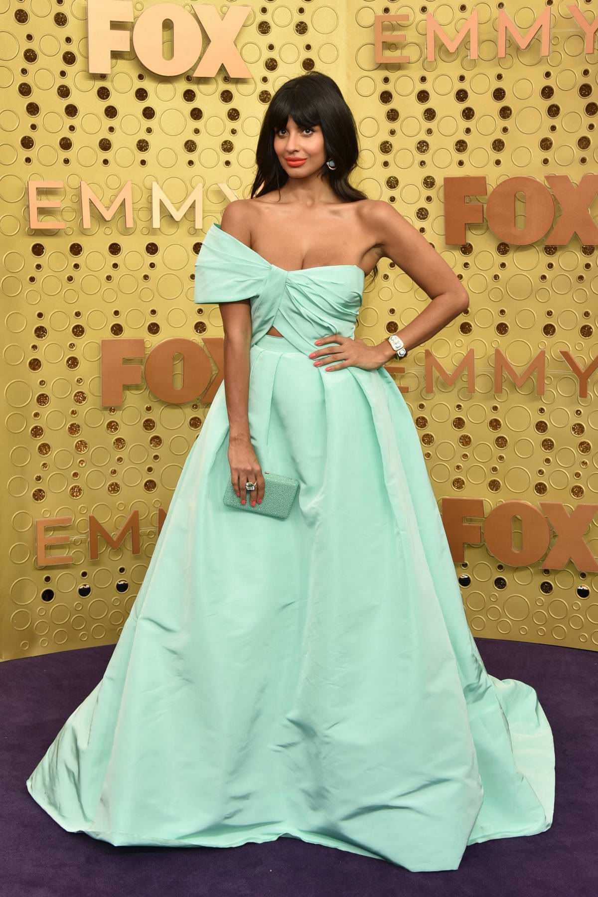 Jameela Jamil attends the 71st Primetime Emmy Awards at Microsoft Theater in Los Angeles